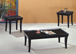 GTU Furniture 3-Piece Wood Occasional Table Set Black