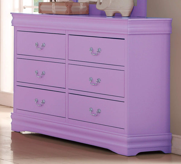 GTU Furniture Classic Louis Philippe Styling Lilac Kids Twin/Full/Queen/King Bedroom Set