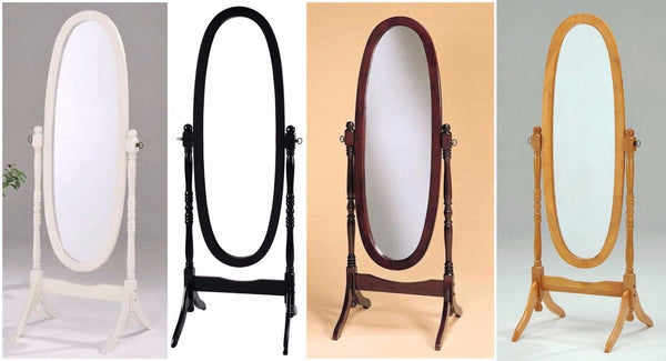 GTU Furniture Swivel Adjustable Full-Length Oval Wood Cheval Floor Mirror