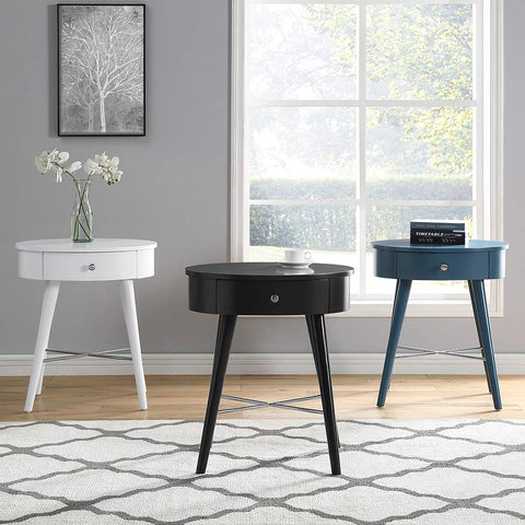 GTU Furniture Circle Shape Wood End Table