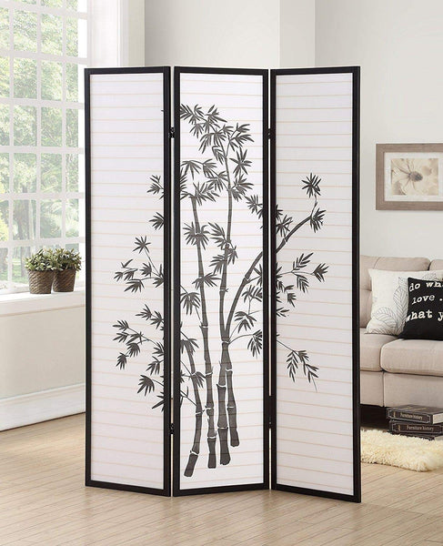 GTU Furniture 3/4 Panel Room Divider Bamboo Shoji Screen