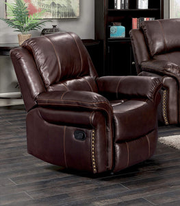 GTU Furniture Brown Leather Recliner