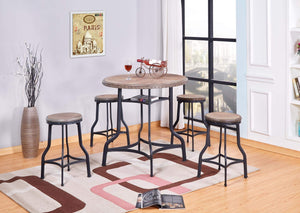 GTU Furniture raditional 5-Piece Counter Height Pub Table Set