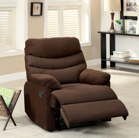 GTU Furniture Rocker Recliner, Chocolate Microfiber
