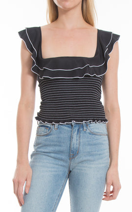 Athena Top Black
