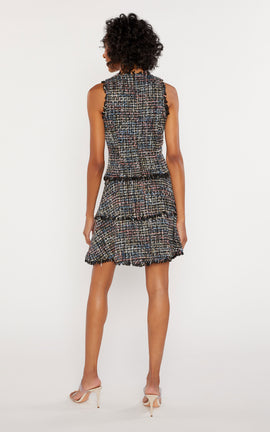 Multi Tweed Jewel Dress