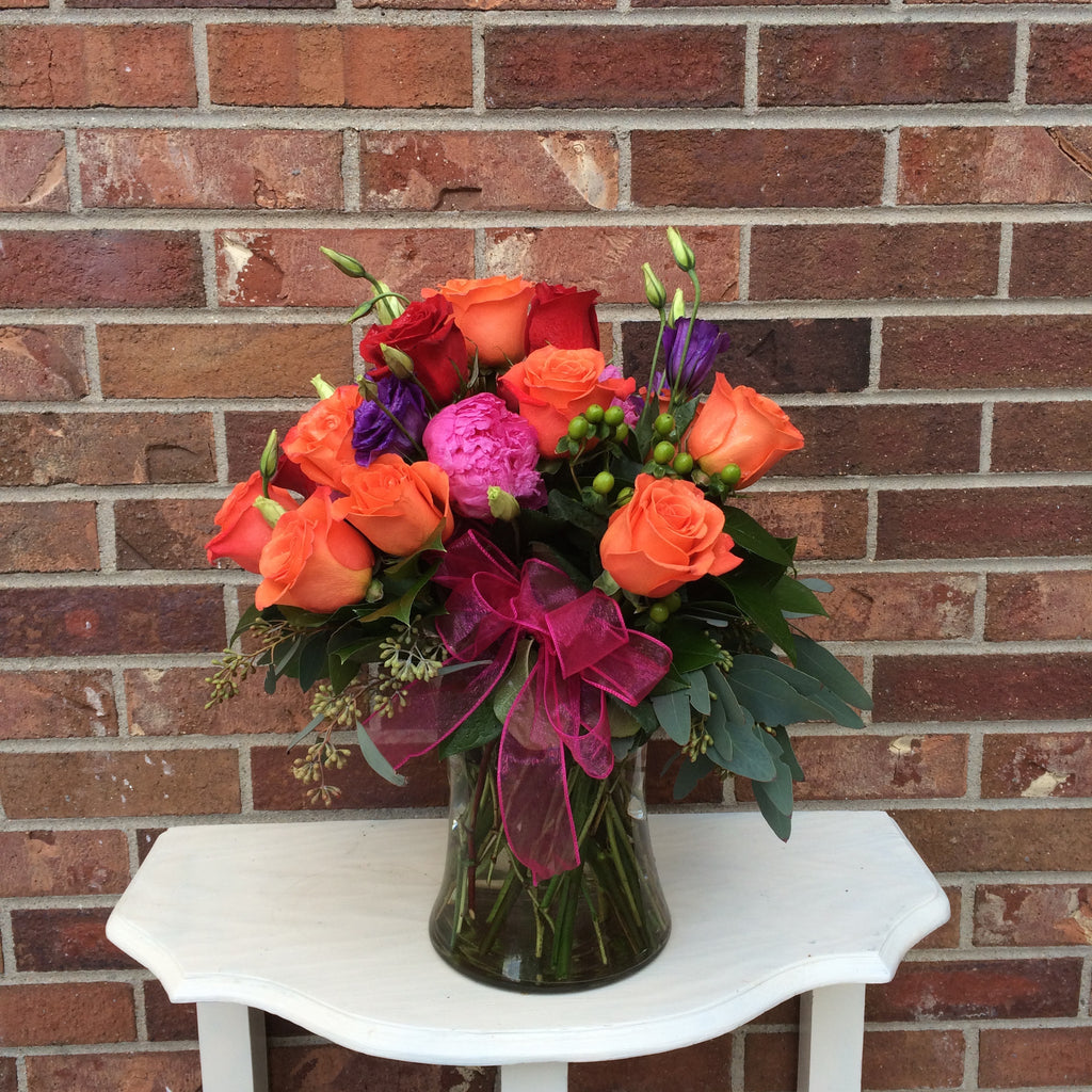 Colorado springs expressions of love mainstreet flower market orange pink roses dhlflorist Choice Image