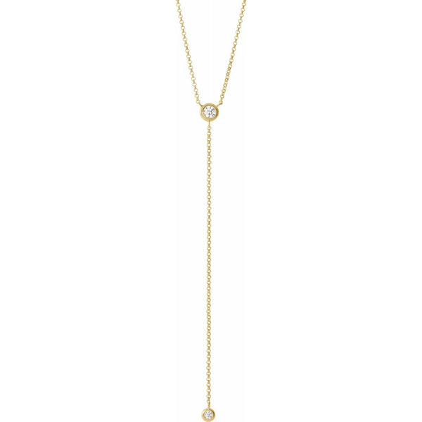 Y DIAMOND LARIAT