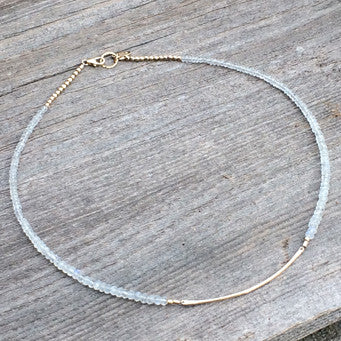 MOONSTONE CALLA NECKLACE