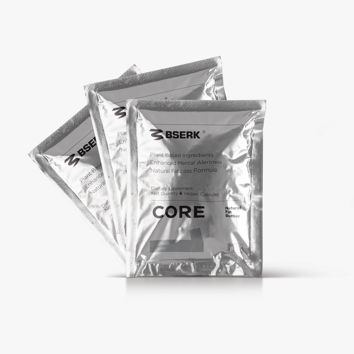 Bserk Core Fat Burner x3 Sample Packs