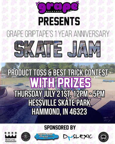 Grape Griptape's Skate Jam! July 21st 2016