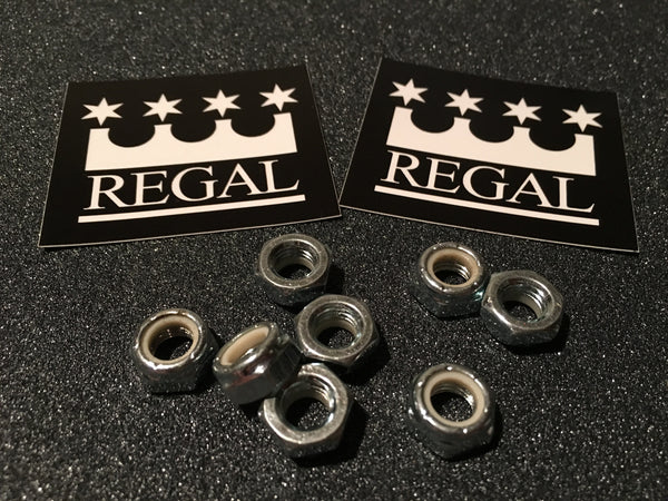 REGAL Quality Axle nuts. 8 Pack