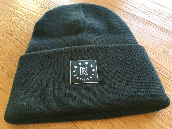 "The ""DAILY REGAL"" Cuffed Beanie (Charcoal)"