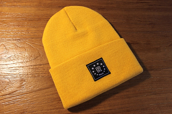 "The ""DAILY REGAL"" Cuffed Beanie (Gold Yellow)"