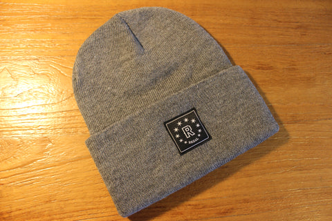 "The ""DAILY REGAL"" Cuffed Beanie (Heather Grey)"