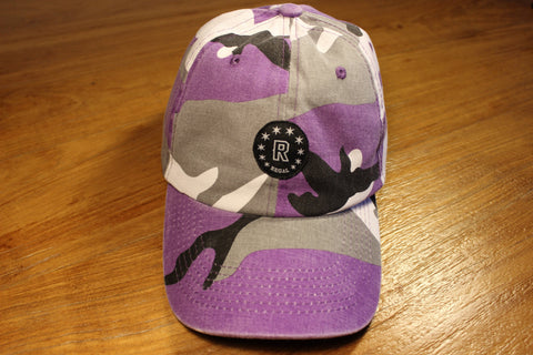 "The ""PURPLE HAZE"" Camo Strapback hat"