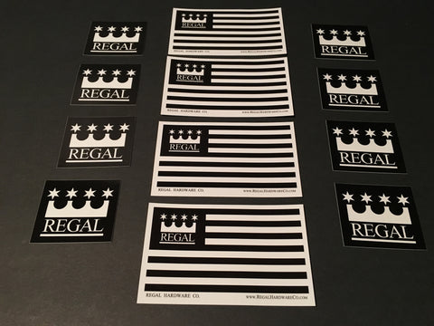 REGAL Premium Outdoor Vinyl Sticker Pack