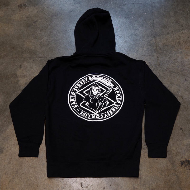 Baker Street For Life Zip Hoodie | Black