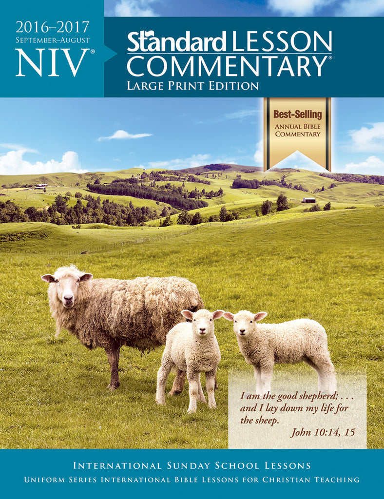 NIV® Standard Lesson Commentary® Large Print Edition 2016-2017