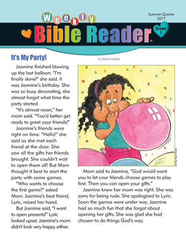 Early Elementary Weekly Bible Reader® - Summer 2017