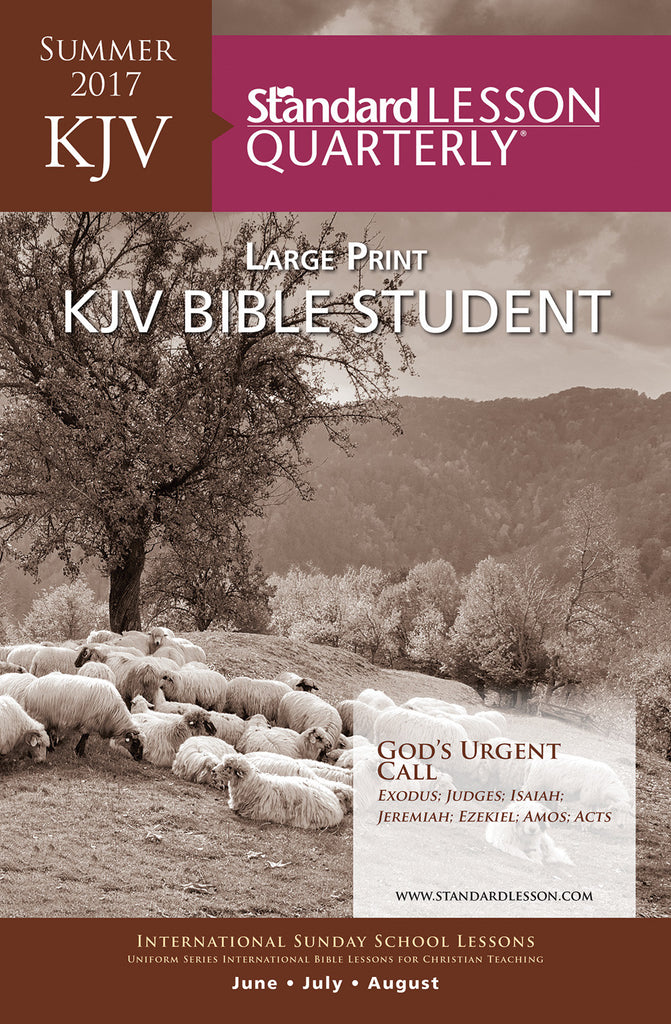 KJV Bible Student Large Print - Summer 2017