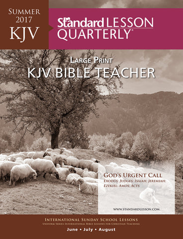 KJV Bible Teacher Large Print - Summer 2017