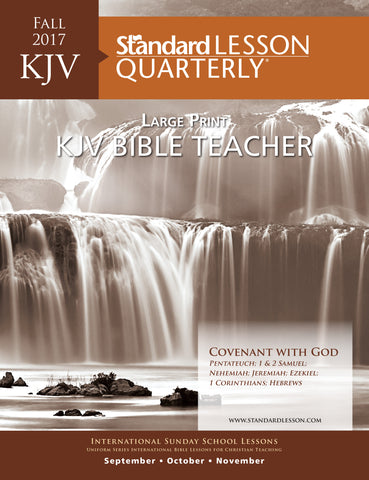 KJV Bible Teacher Large Print—Fall 2017