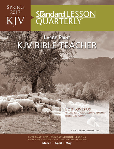 KJV Bible Teacher Large Print - Spring 2017