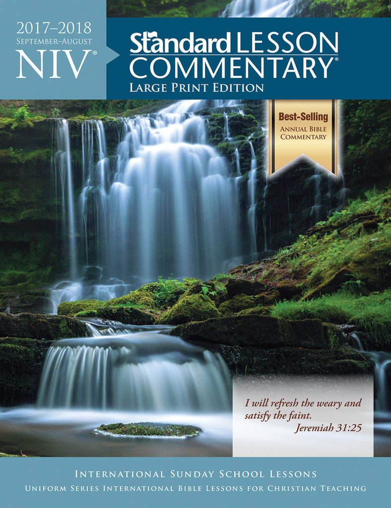 NIV® Standard Lesson Commentary® Large Print Edition 2017-2018