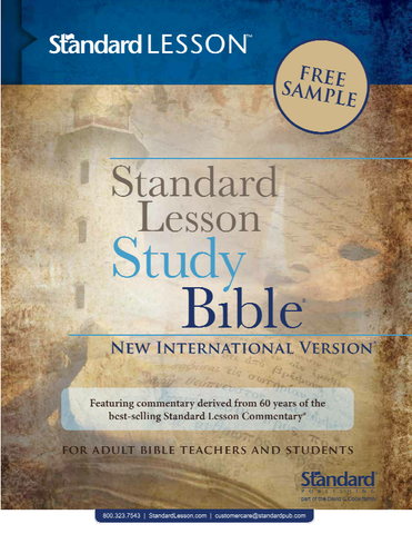 NIV® Standard Lesson™ Study Bible Sample