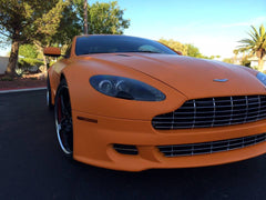 XPO Orange Matte Vinyl Wrap aston | Vvivid Canada