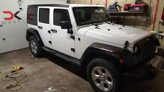 XPO Gloss Metallic Sparkle White Vinyl Wrap Jeep | Vvivid Canada