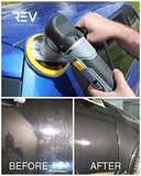 "REV 6"" Random Orbital Polisher and Sander Power Kit before and after 