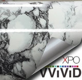 White Black-Veined Marble Vinyl
