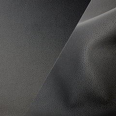 Bycast65 Black Matte Gloss Satin Buffed Full-Grain Pattern Faux Leather Marine Vinyl Fabric display
