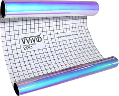 DECO65 High Gloss Unicorn Blue-to-Purple Opal Holographic Adhesive Craft Film - backing