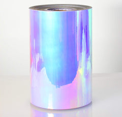 DECO65 High Gloss Unicorn Blue-to-Purple Opal Holographic Adhesive Craft Film - roll