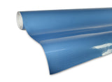XPO Tech Art Blue Gloss Carbon Vinyl Wrap roll 2 | Vvivid Canada