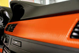 XPO Orange Dry Carbon Vinyl Wrap dash | Vvivid Canada