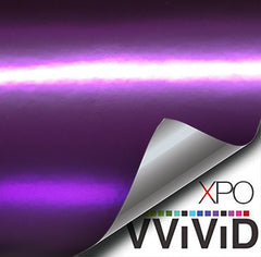 XPO Lustre Chrome Deep Purple Vinyl Wrap demo | Vvivid Canada