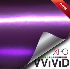 XPO Lustre Chrome Deep Purple Vinyl Wrap | Vvivid Canada