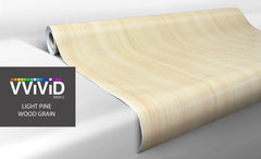 XPO White Maple Wood Grain Vinyl Wrap roll demo | Vvivid Canada
