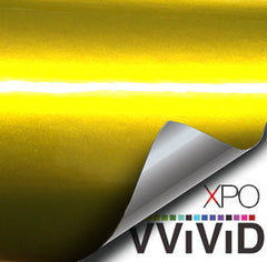 XPO Liquid Metal Yellow Vinyl Wrap demo | Vvivid Canada