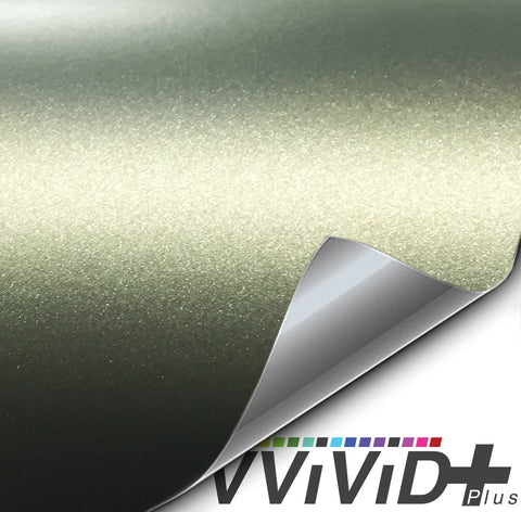 2017 VViViD+ Matte Metallic Military Green (Ghost) Vinyl Wrap | Vvivid Canada