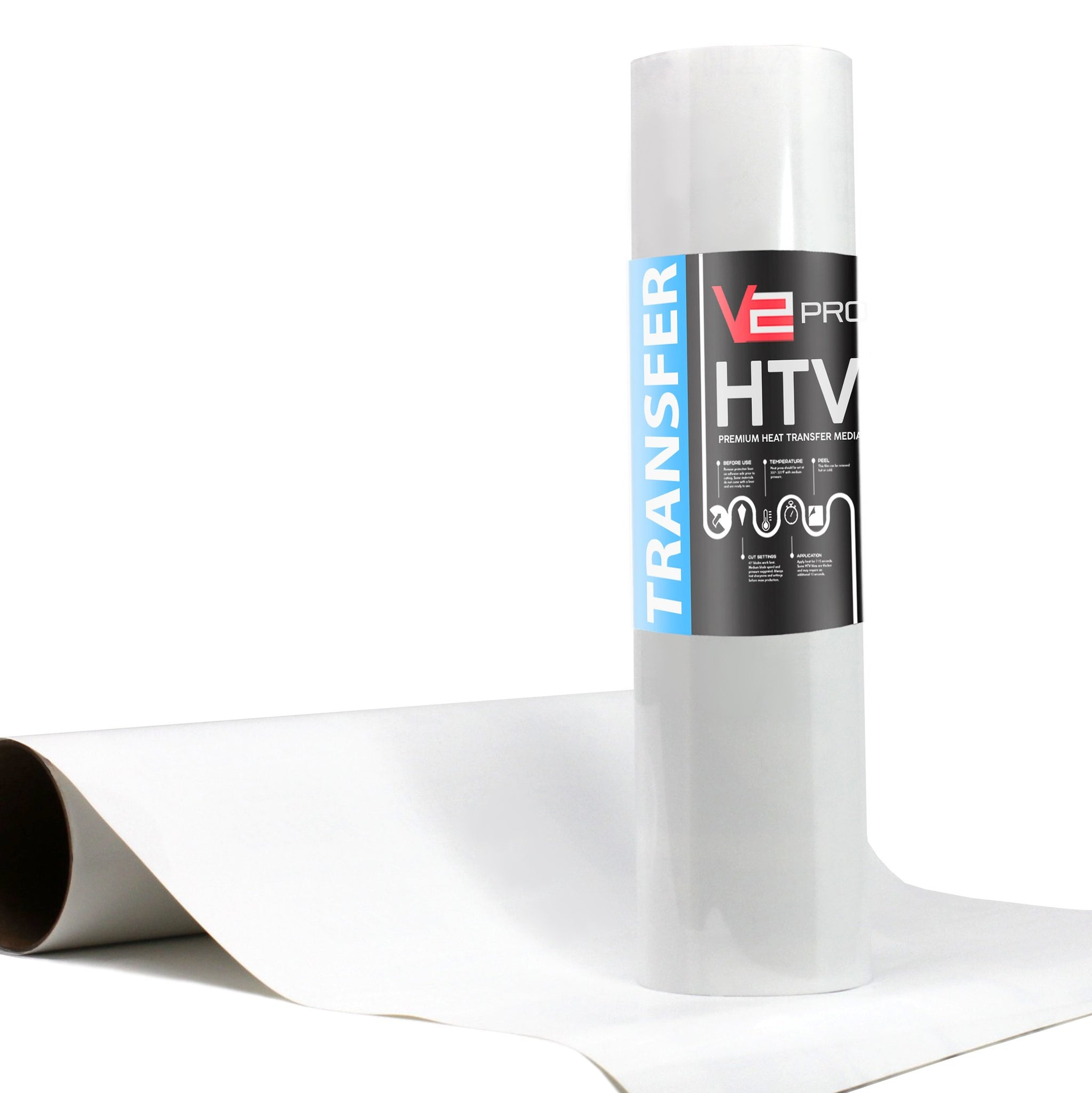 V2 Pro White Heat Transfer Vinyl Film thumbnail