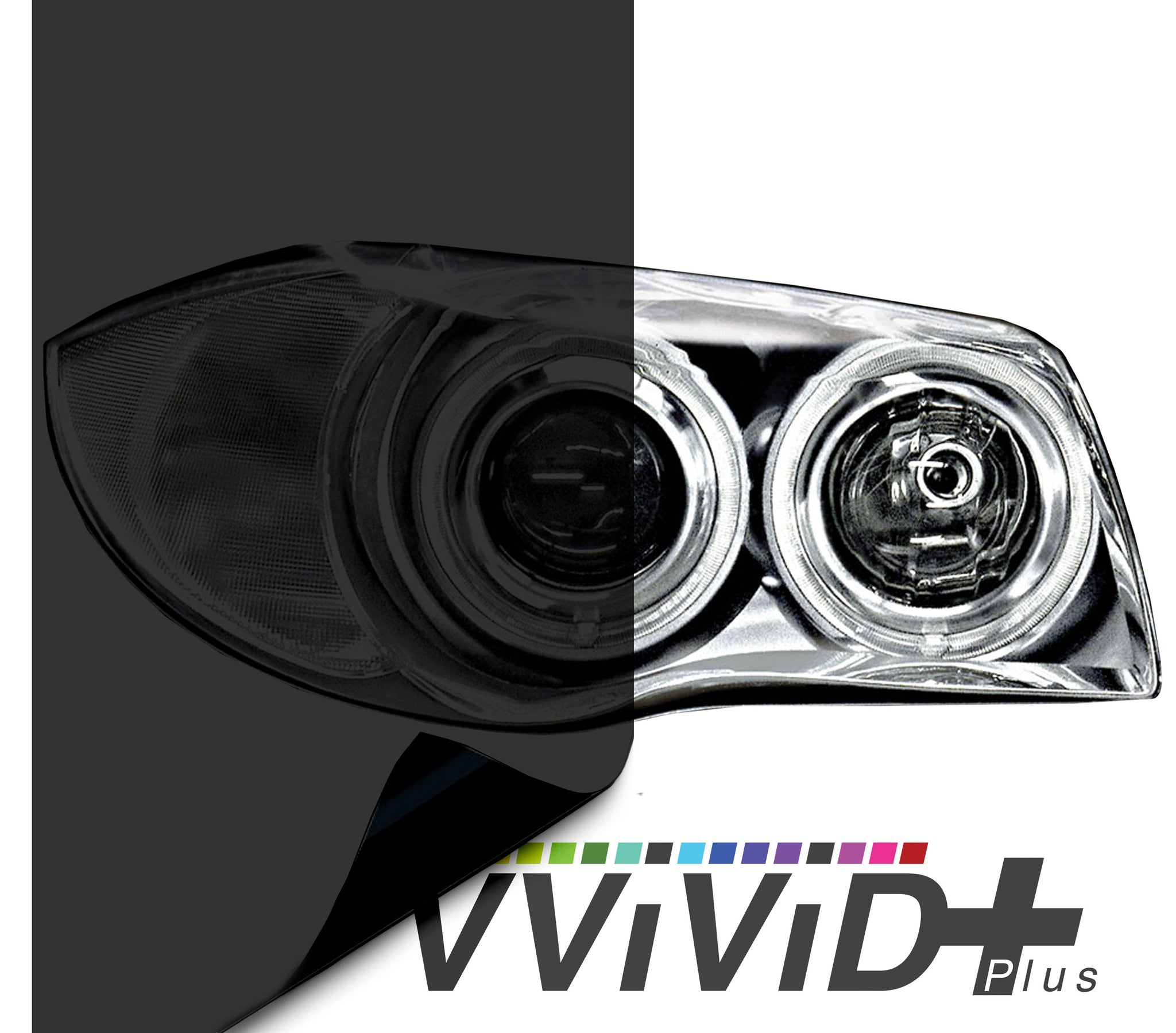 2017 VViViD+ Dark Smoke Air-tint® Headlight Tint Vinyl Film | Vvivid Canada