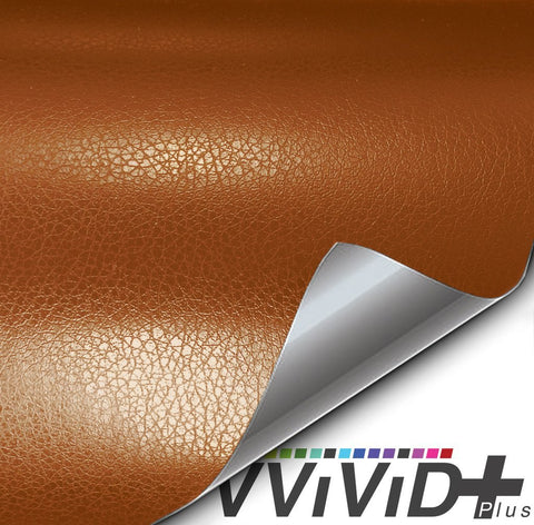 2017 VViViD+ Classic Brown Fine Grain Leather Vinyl Wrap | Vvivid USA