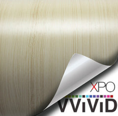 XPO White Maple Wood Grain Vinyl Wrap | Vvivid Canada