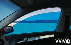 VViViD Blue Transparent Window Tint side display