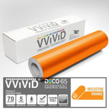 DECO65 Reflective Orange Permanent Craft vinyl Film
